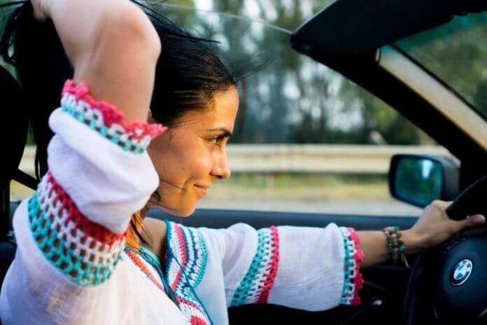 femeia, la volan, mașina, mașină, conduce, conducă, femeie