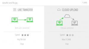 live transfer , cloud upload