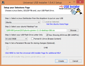 Universal USB Installer, program, făcut, creat, stick